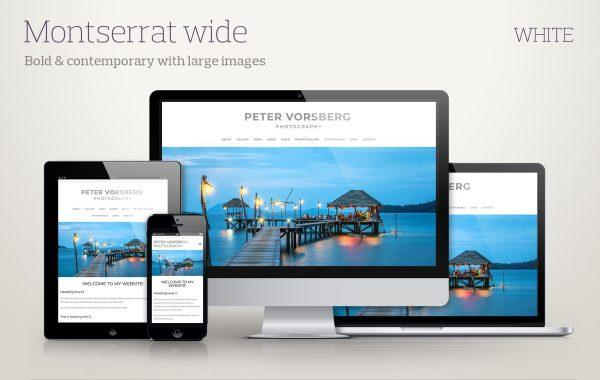 Template Montserrat-wide-white screenshots